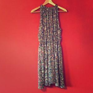 H&M HALTER STYLE FLORAL PRINT DRESS